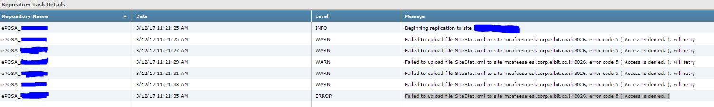 Failed to upload file SiteStat xml to site mcafeesa esl corp